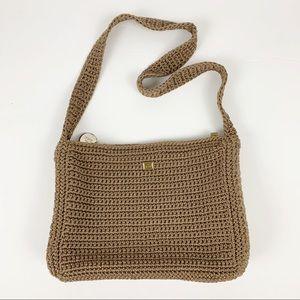 The Sak Knit Tan Shoulder Bag